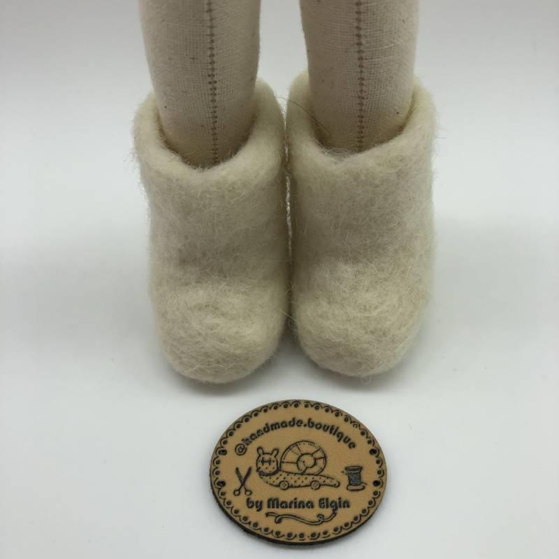 White felt shoes