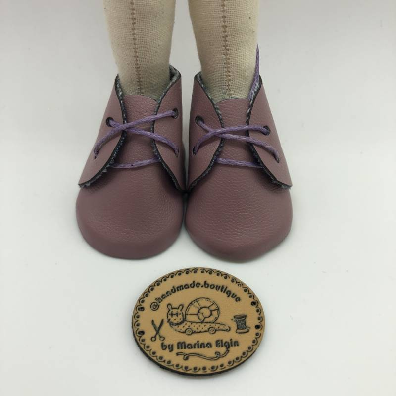 French rose leather shoes